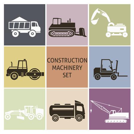 road scraper: Construction machinery. Set for you design