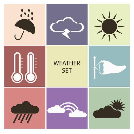 rainstorm: Weather icons. Set for you design Illustration