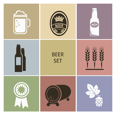 Beer icons. Set for you design Vector