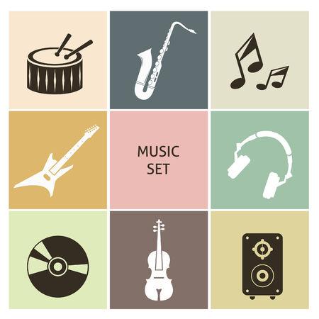 musica electronica: Iconos de la música. Ajuste para que el diseño