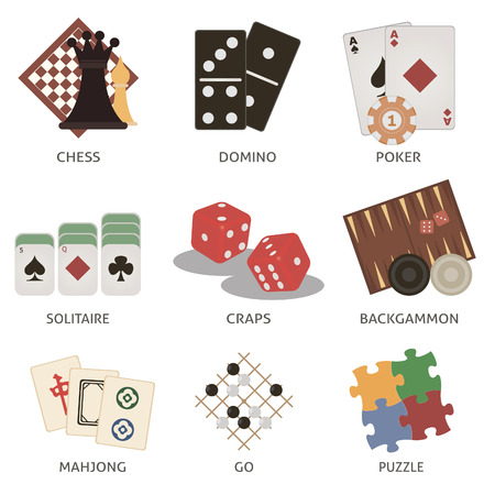 backgammon: Games. Set for you design Illustration