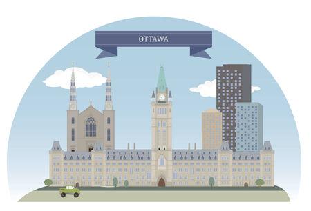 Ottawa. Capital of Canada. For you design Vector
