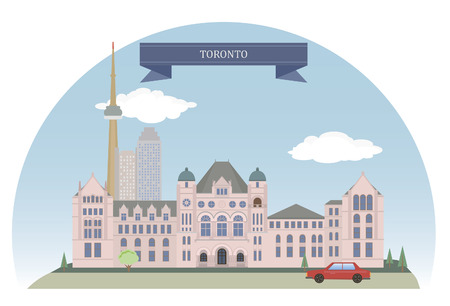 Toronto. City in Canada and the provincial capital of Ontario. Vector