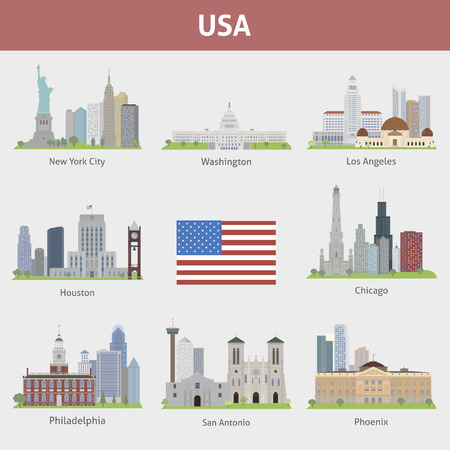 US Cities. Vector set for you design