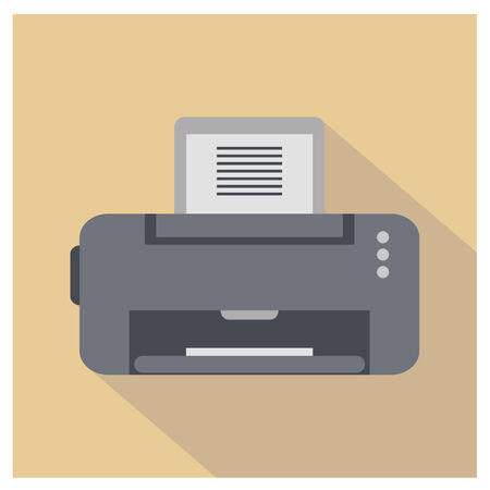 copy machine: Printer Icon. Flat vector for you design Illustration