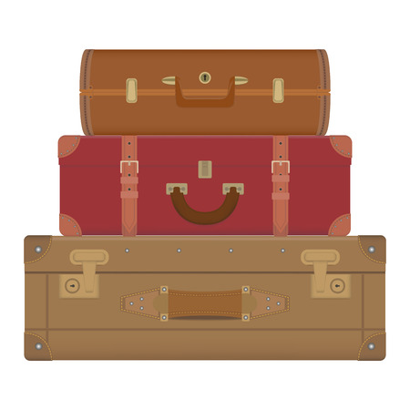 Collection of travel suitcases.Vector for you design