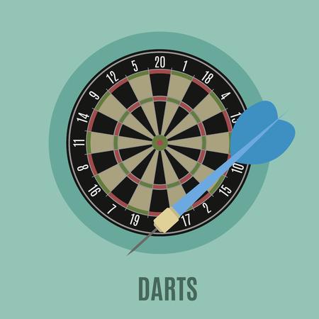 sectors: Darts. Classic  Board with Twenty Sectors, flat icon