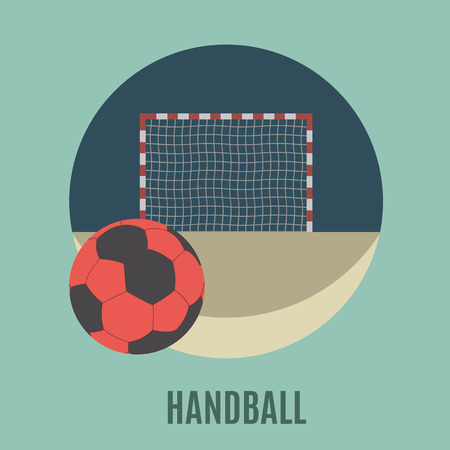 Handball. Summer sports flat icon for you design
