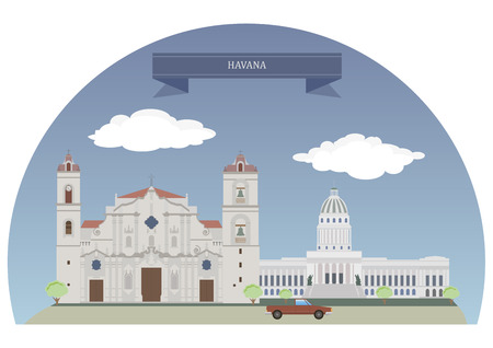havana: Havana,  capital city, province, major port, and leading commercial centre of Cuba Illustration