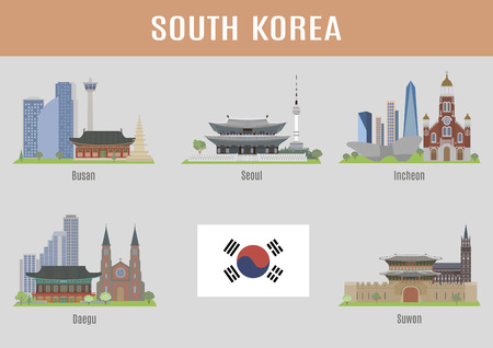 Cities in South Korea. Major korean cities famous places