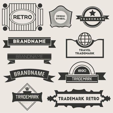 logotypes: Retro Vintage Insignias or Logotypes. Vector set