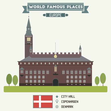 Gemeentehuis. Copenhagen, Denmark Stockfoto - 36511193
