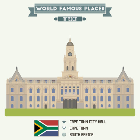 cape town: City Hall. Cape Town, South Africa Illustration