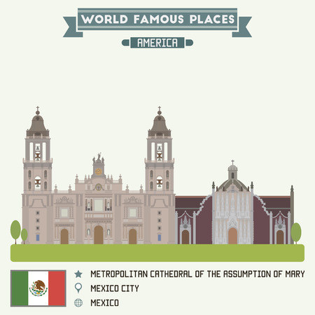 assumption: Metropolitan Cathedral of Assumption of Mary. Mexico city Illustration