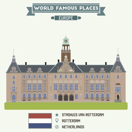 Staghuis Van Rotterdam, Netherlands Stock Illustratie