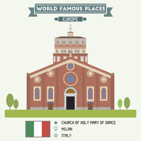 grace: Church of Holy Mary of Grace, Milan Illustration