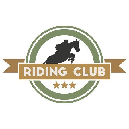 racing wings: Riding club label. Vintage stylel