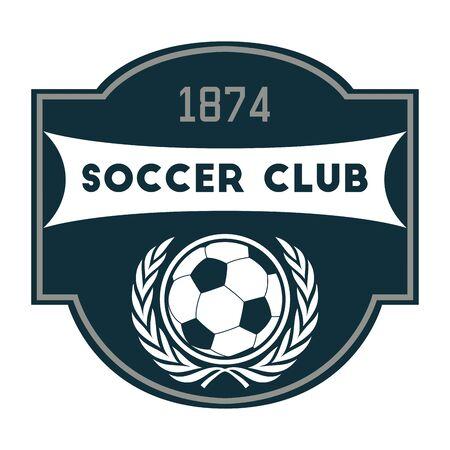 club soccer: Soccer or Football Club Label