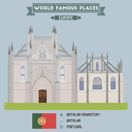 famous places: Batalha monastery. Portugal famous places