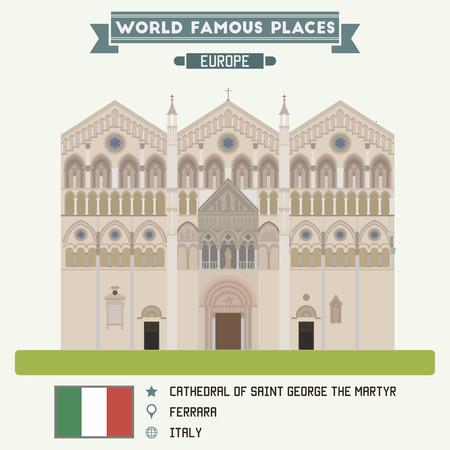 saint george: Cathedral of Saint George the Martyr. Ferrara, Italy