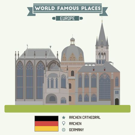 famous places: Catedral Aacen. Alemania lugares famosos