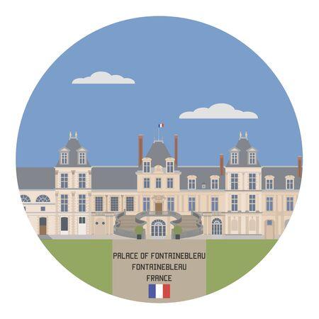 palace: Palace of Fontainebleau. France famouse place