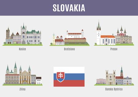 slovakia flag: Cities in Slovakia. Famous Places Slovakia cities