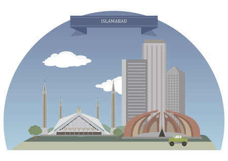islamabad: Islamabad. Capital city of Pakistan located within the Islamabad Capital Territory Illustration