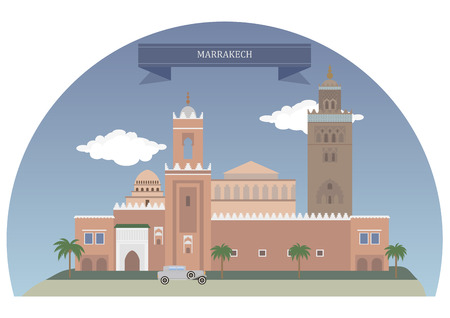 large tree: Marrakech, Morocco. Major city in the northwest African nation of Morocco