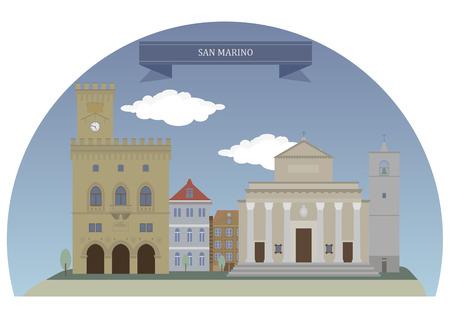 marino: City of San Marino. Capital city of the Republic of San Marino
