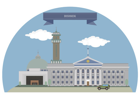 largest: Bishkek,  capital and the largest city of Kyrgyzstan Illustration