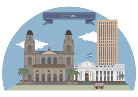 nicaragua: Managua, capital city and  largest city of Nicaragua