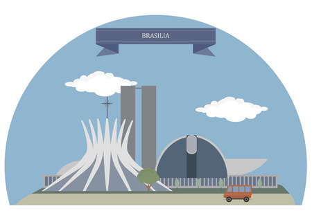 lia: Brasília, federal capital of Brazil Illustration