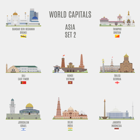 georgia flag: World capitals. Famous Places Asian Cities