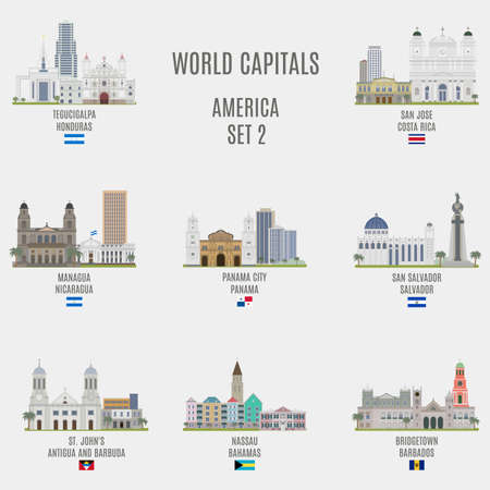 bandera de panama: Capitales del mundo. Lugares famosos de ciudades de Estados Unidos