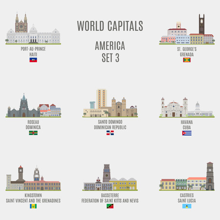 american cities: World capitals.Famous Places of American cities