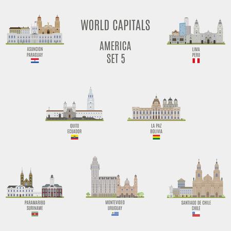 bandera de paraguay: Capitales del mundo. Lugares famosos de ciudades de Estados Unidos
