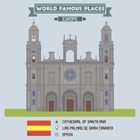 gran: Las Palmas de Gran Canaria Cathedral of Santa Anna Illustration