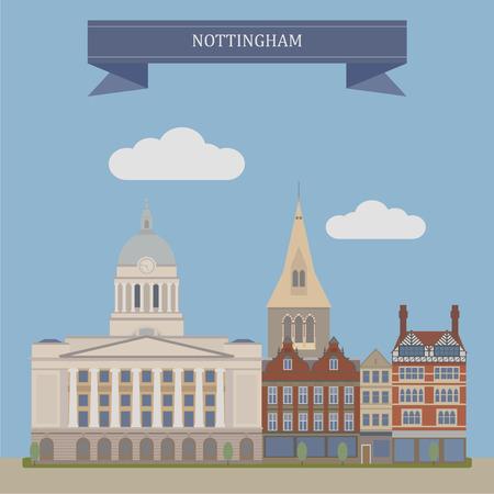 old houses: Nottingham, city in Nottinghamshire, England