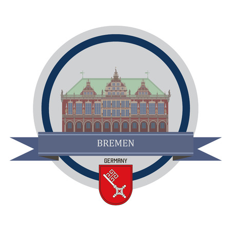 bremen: Bremen symbol at the round banner Illustration