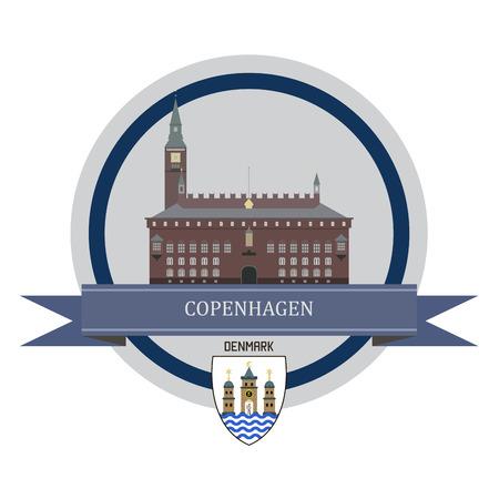 stronghold: Copenhagen symbol at the round banner Illustration
