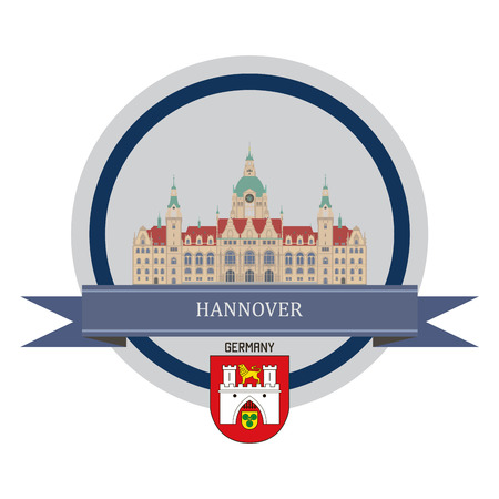 fortress: Hannover symbol at the round banner Illustration