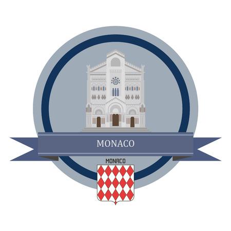 monaco: Monaco symbol at the round banner