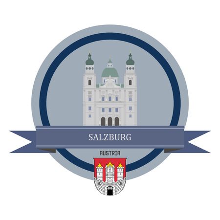 austria: Salzburg symbol at the round banner