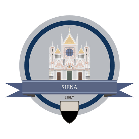 siena italy: Siena symbol at the round banner