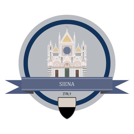 Siena symbol at the round banner