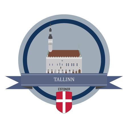 estonia: Tallinn symbol at the round banner