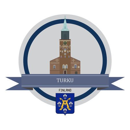 turku: Turku symbol at the round banner