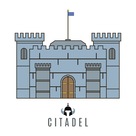 the citadel: Castle icon. Flat style