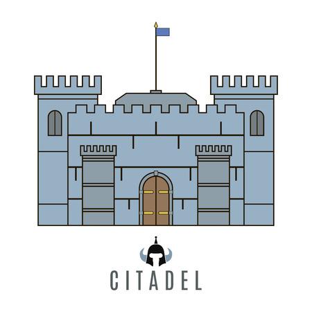 Castle icon. Flat style